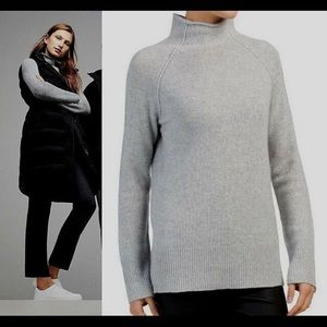 Theory Karinella Cashmere Funnel Neck Sweater Med